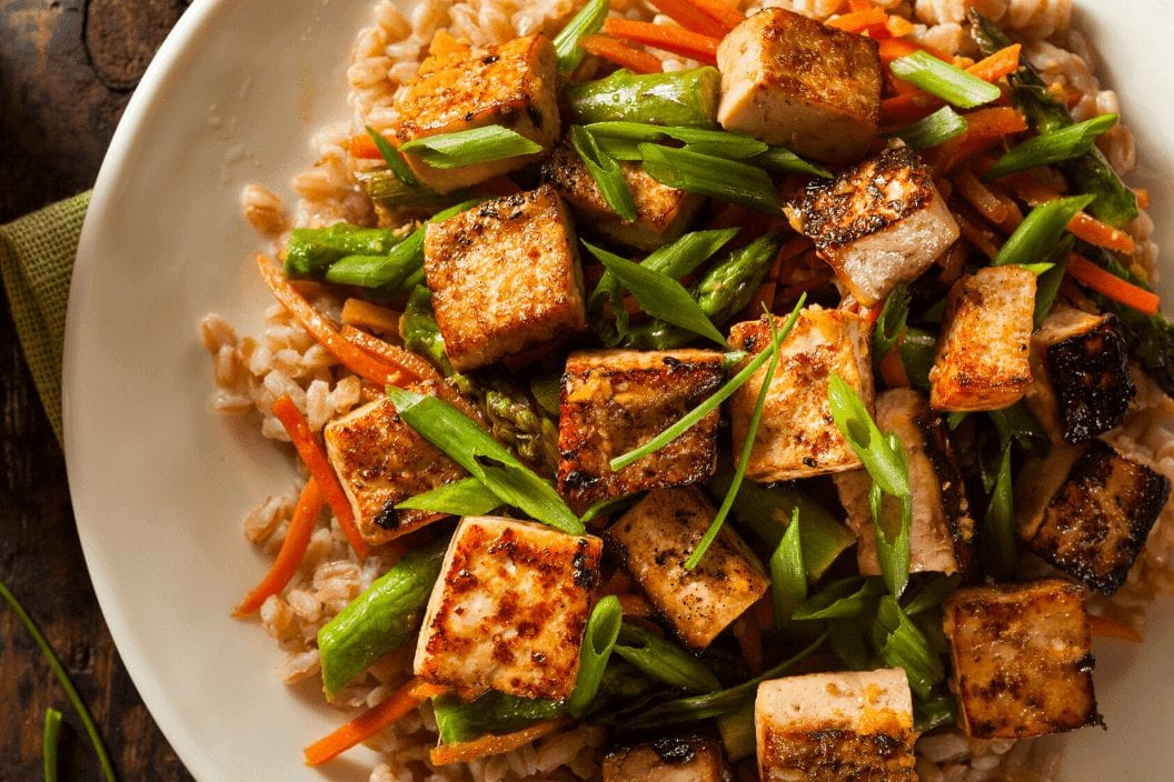 Tofu Fried Rice Healthy Vegetarian Meal